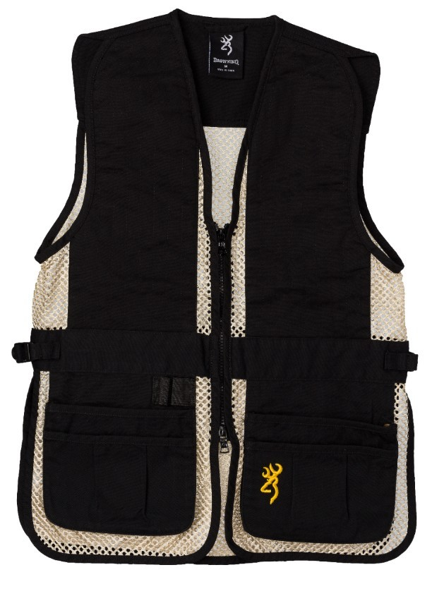Browning Jr Trapper Crk Vest Blk/Tan M