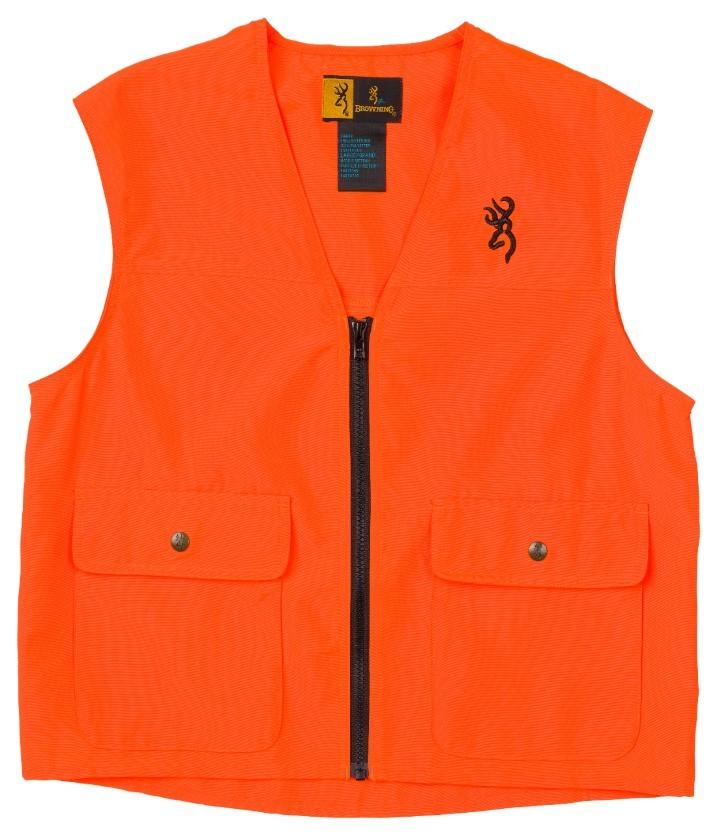 Browning Jr Safety Vest Blaze Orange, L