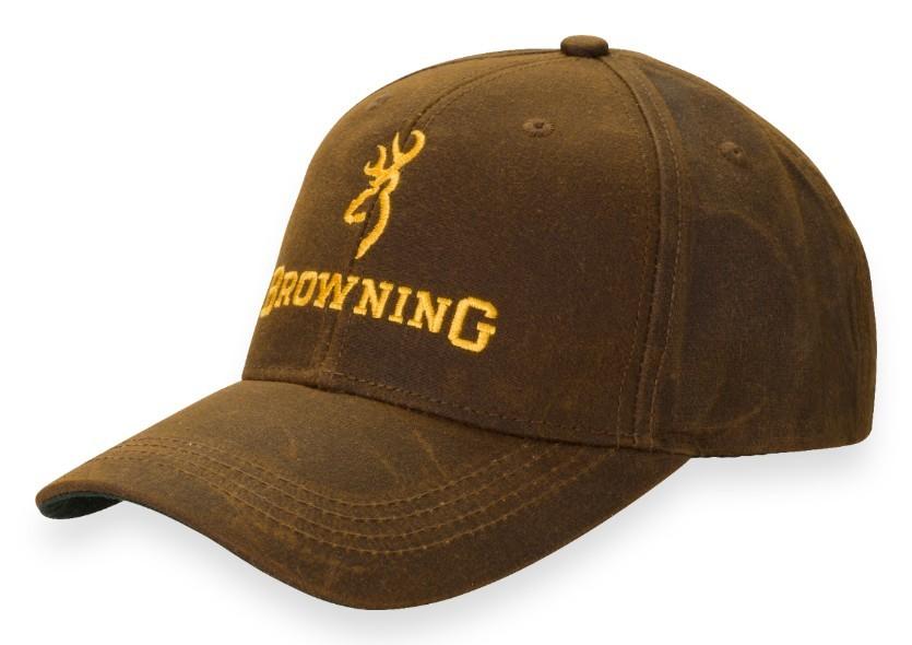 Browning Dura Wax Hat W/Logo Brown
