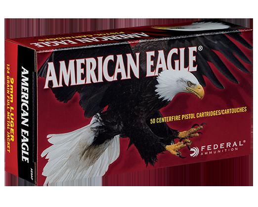 Federal 9MM Luger,124 Gr FMJ Case