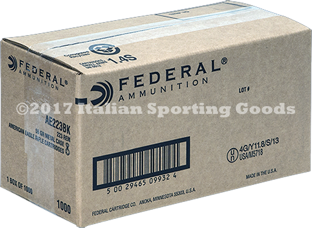 Federal 223 Rem, 55 Gr FMJ Boat Tail