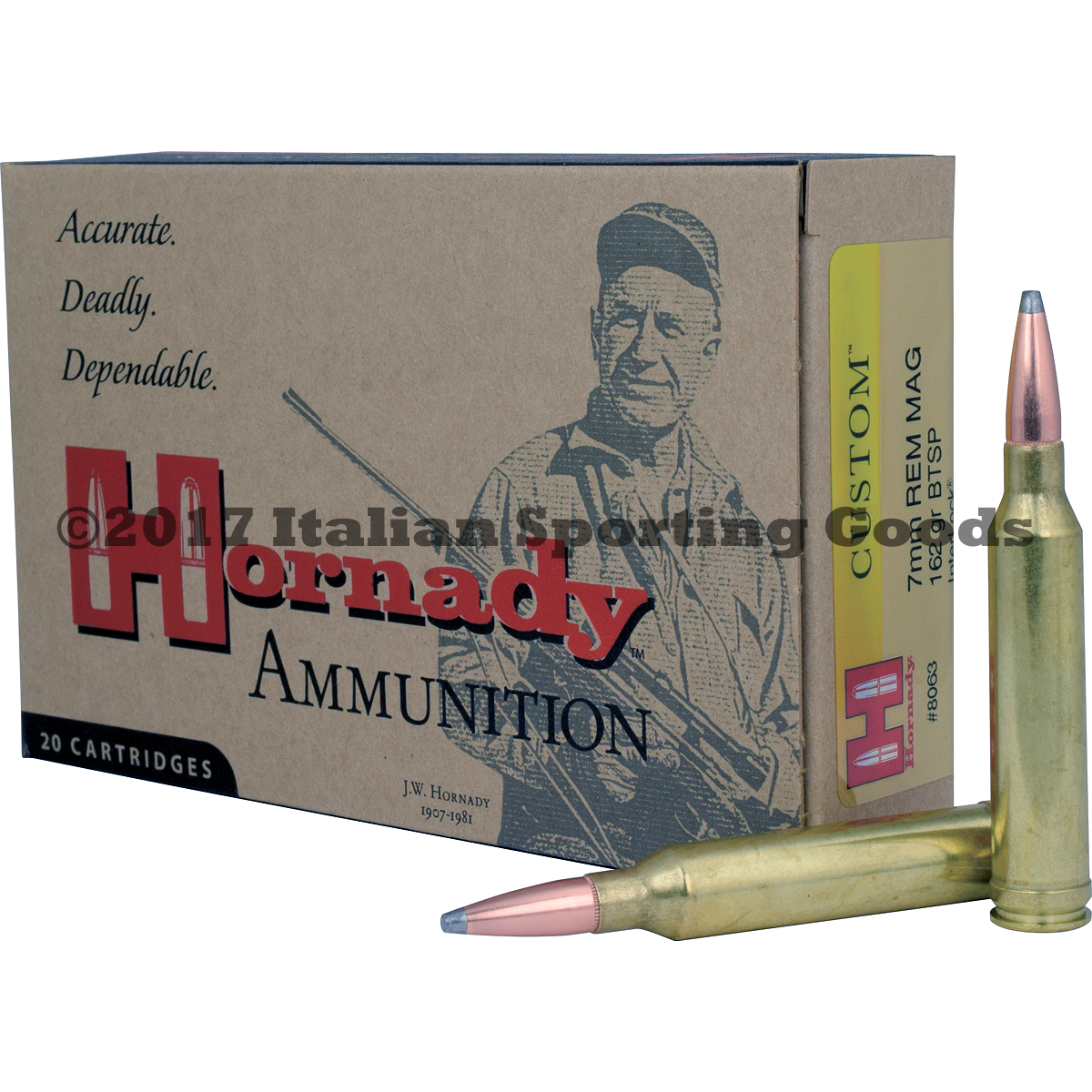 Hornady 7MM Rem Mag, 162 Gr InterLock
