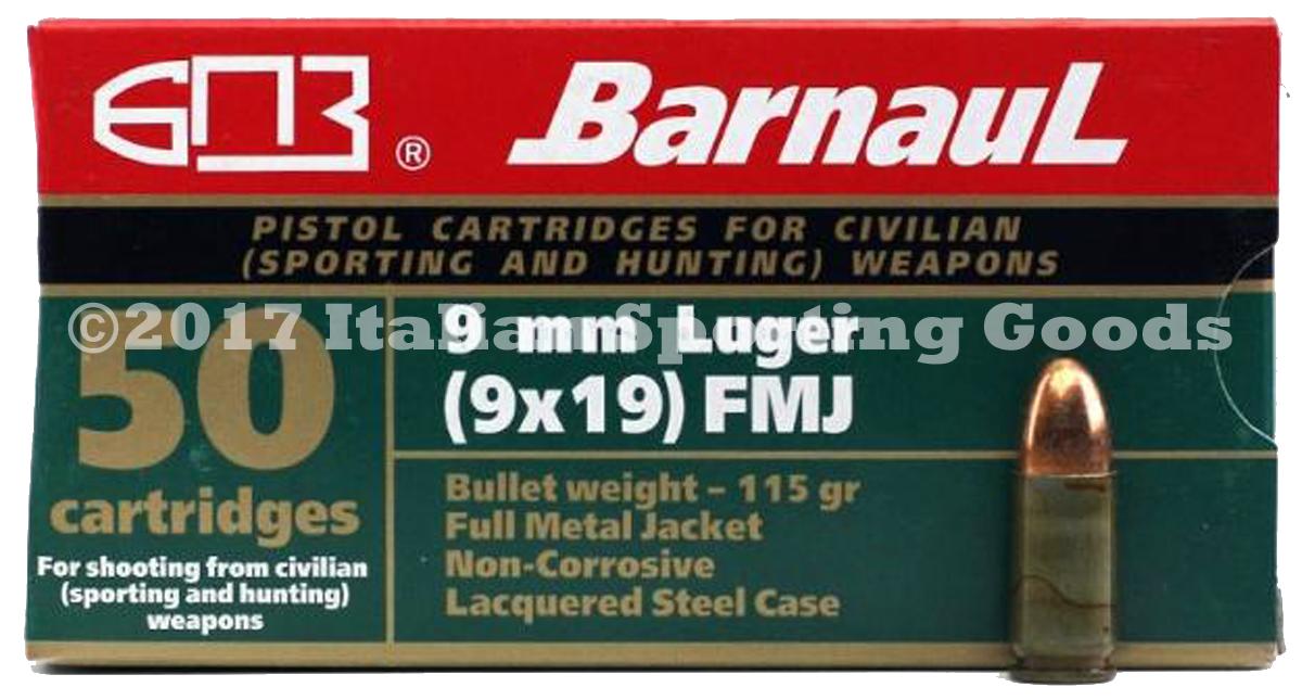 MFS 9MM Luger, 115 Gr FMJ