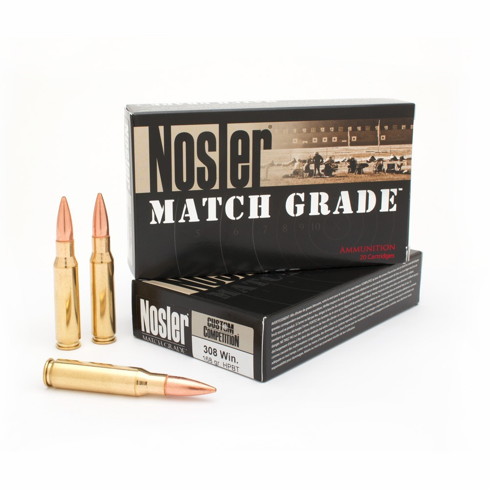 Nosler Bullets 308 Win, 168 Gr Competition HP