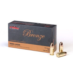 PMC Ammunition 9MM Luger, 115 Gr FMJ