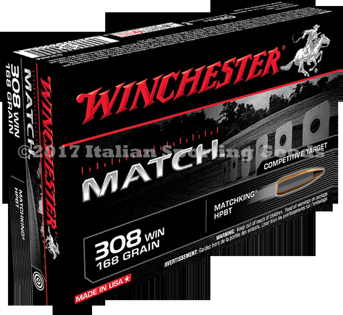 Winchester 308 Win, 168 Gr HPBT Match