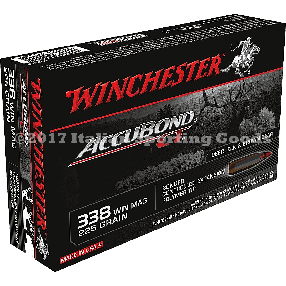Winchester 338 Win Mag, 225 Gr Accubond