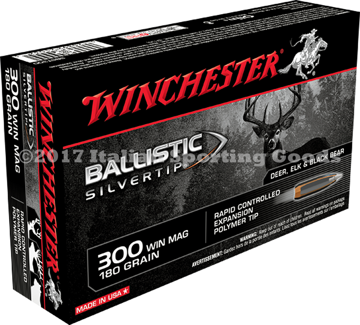 Winchester 300 Win Mag, 180 Gr Ball STip