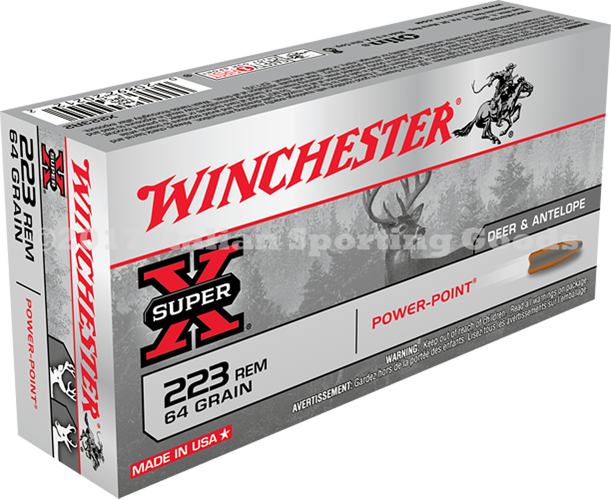 Winchester 223 Rem, 64 Gr Power Point
