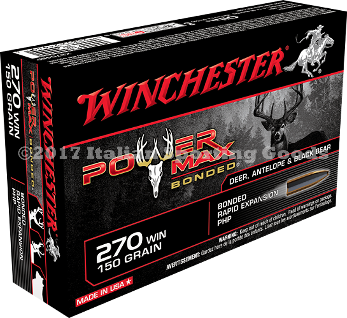 Winchester 270 Win, 150 Gr PHP Bonded