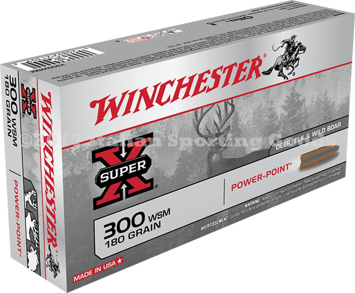 Winchester 300 WSM, 180 Gr Power Point