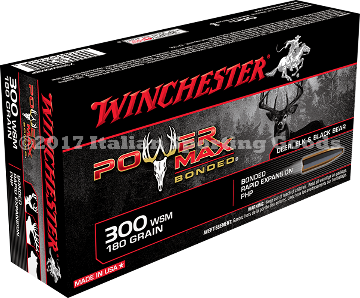 Winchester 300 WSM, 180 Gr PHP Bonded