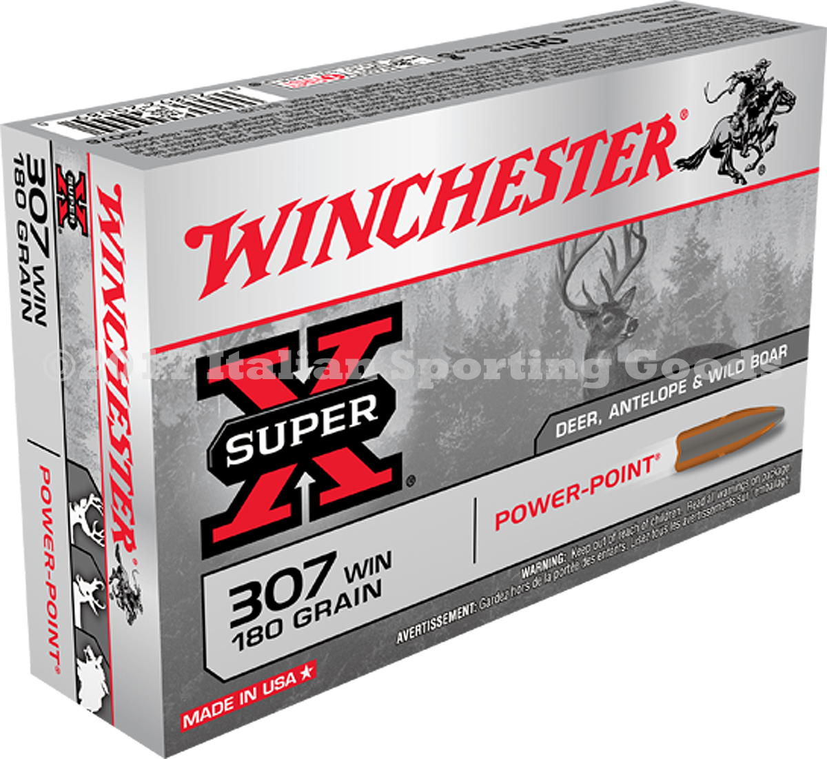 Winchester 307 Win, 180 Gr Power Point