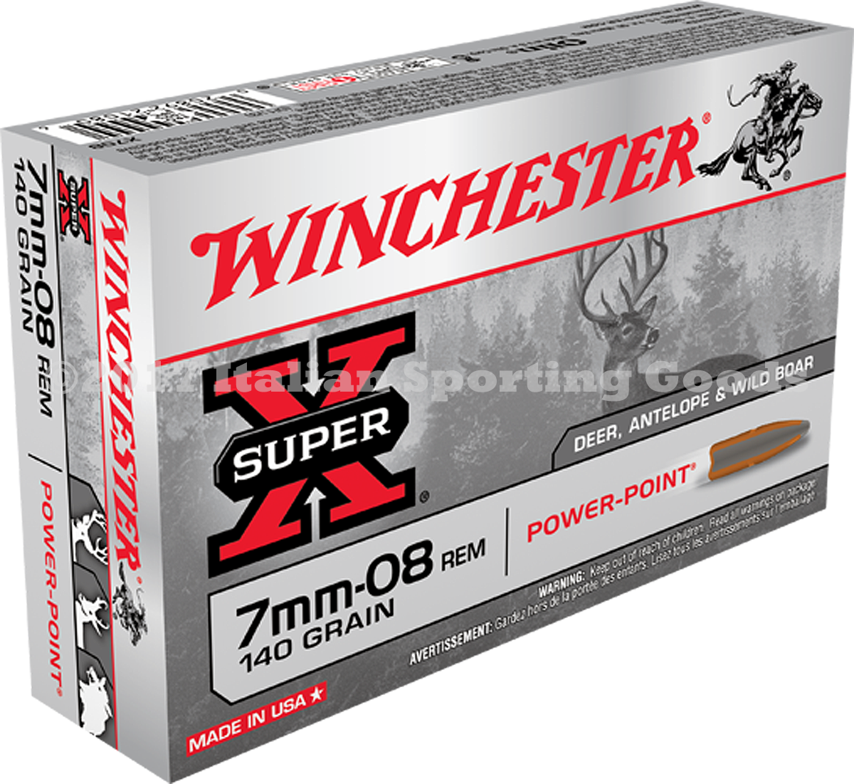 Winchester 7MM-08 Rem, 140 Gr Power Point