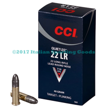 "CCI 22 LR, 40 Gr ""QUIET 22"" Brick"