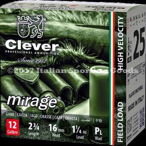 "Clever Mirage 12 Ga, 2 3/4"" 1 1/4 Oz #6"