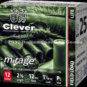 "Clever Mirage 12 Ga, 2 3/4"" 1 1/10 Oz #8"