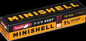 """Aguila Mini Shotshell 12 Ga, 1 3/4"""" 5/8 Oz #7 1/2 / 20 Rds"""