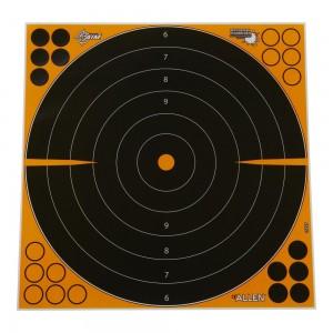 "Allen EZ Aim Adhesive Splash 17"" Bullseye Target, 5 Targets"