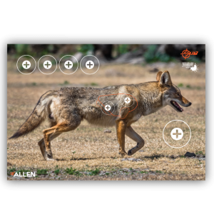 """Allen EZ Aim Splash Coyote Target 13""""x24"""", 3 Targets"""