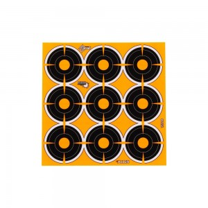 "Allen EZ Aim Adhesive Splash 2"" Bullseye Target, 12 Targets"