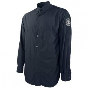 Beretta Buzzi Shooting Shirt Long Sleeve, M-Navy Blue