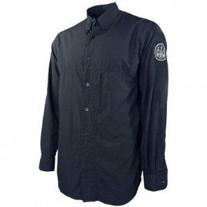Beretta Buzzi Shooting Shirt Long Sleeve, XL-Navy Blue