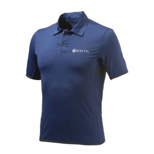 Beretta Tech Shooting Mens Polo, Blue