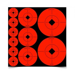 "Birchwood Casey Target Spots Orange Assorted Spots-60-1"", 30-2"" & 20-3"", 110 Targets"