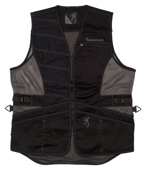 Browning Ace Shooting Vest Right Hand S-Black/Black