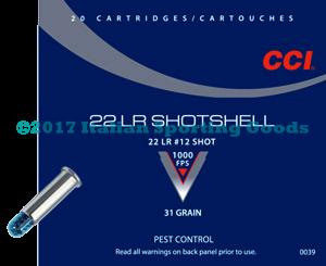 CCI 22 LR, 31 Gr #12 Shot