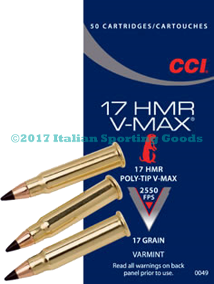 CCI 17 HMR, 17 Gr Poly-Tip