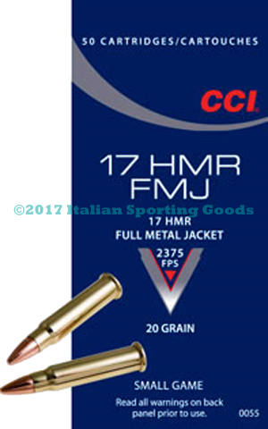 CCI 17 HMR, 20 Gr FMJ