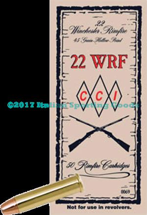 CCI 22 WRF, 45 Gr TNT JHP