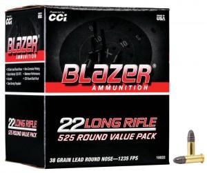 CCI Blazer 22 LR, 38 Gr LRN / 525 Rds