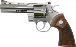 "Colt Python Stainless Wood Grip 357 Mag, 4 1/4"" Barrel"