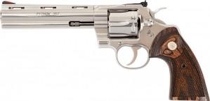 "Colt Python Stainless Wood Grip 357 Mag, 6"" Barrel"
