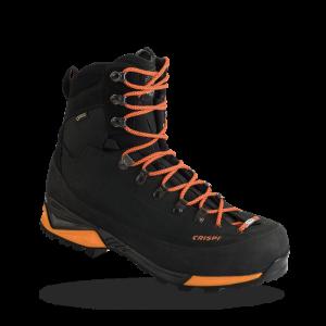 "Crispi Briksdal GTX Insulated Nubuk Leather Gore-Tex 9"" Black & Orange, 10 D"