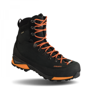 "Crispi Briksdal GTX Insulated Nubuk Leather Gore-Tex 9"" Black & Orange, 9 1/2"