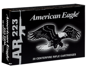 Federal 223 Rem, 55 Gr FMJ Tactical