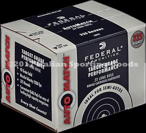 Federal 22 LR, 40 Gr Solid Round Nose