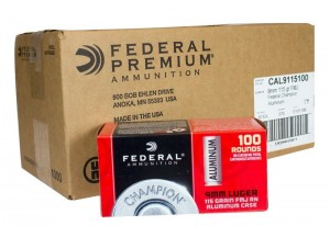 Federal 9MM Luger, 115 Gr FMJ
