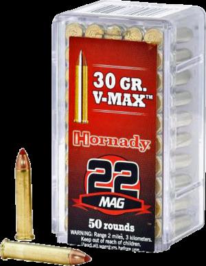 Hornady 22 Win Mag, 30 Gr V-Max