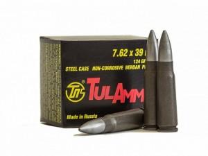 JSC Tula Cartridges 7.62x39, 122 Gr FMJ Metal Case