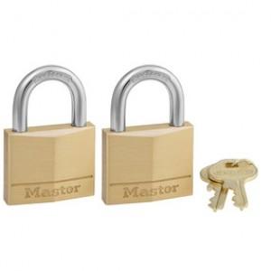Master Lock Brass Pad Lock 2 Pack