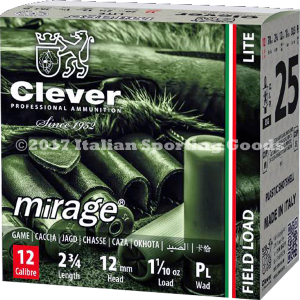 "Clever Mirage 12 Ga, 2 3/4"" 1 1/10 Oz #9"