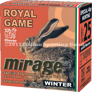 "Clever Mirage Royal Game Winter 12 Ga, 2 3/4"" 1 7/16  #7 / 25 Rds"