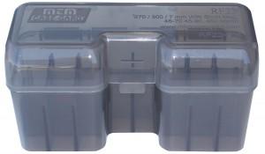 MTM Case-Gard 22 Rd Rifle Flip Top 270, 300 WSM & 45-70, RF Series Clear Smoke Ammo Box