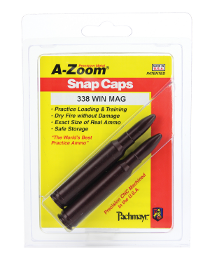 A-Zoom 338 Win Mag Snap Caps Rifle Group A 2P/Pk