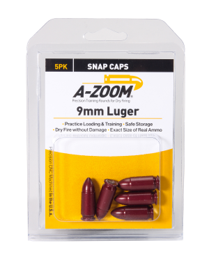 A-Zoom 9MM Luger Snap Caps pistol Group A 5P/Pk